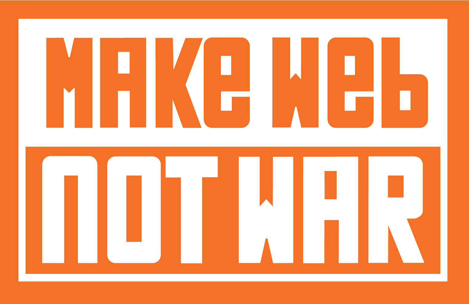 Make Web Not War logo